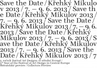 Save the Date, Křehký Mikulov festival Art Designu